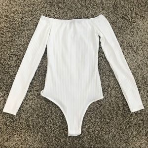 Off Shoulder Ribbed Bodysuit